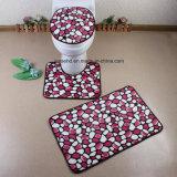 Комплект ванной комнаты циновки Toliet ковров Toliet половиков дома Shaggy