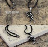 Collana d'argento antica del metallo di morte del rame placcato con la catena della corda del cavo