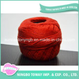 다채로운 연약한 얇은 아크릴 모직 나일론 공상 털실을 뜨개질을 하는 도매 손