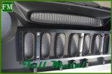 L'ABS noir mat Grille Ghost pour Jeep Wrangler 2007-2017