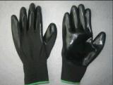 13G полиэстера с покрытием нитриловые перчатки-5029 гильзы