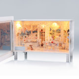 Casa de madera de la opinión educativa DIY del juguete 3D
