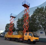 8 10m Jmc 두 배 택시 고도 운영은 트럭을 가위로 자른다