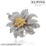 14500 Form-Schmucksachenrhodium-grosser Luxuxblumen-Hochzeits-Ring