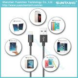 Iphon5/6/7를 위한 직물에 의하여 땋아지는 나일론 디자인 USB 번개 빨리 충전기 케이블