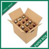 ディバイダが付いている卸し売りワイン・ボトルボックス