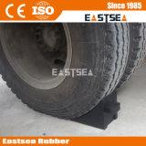 Cuneo resistente della rotella di sicurezza della gomma di gomma per i rimorchi/camion
