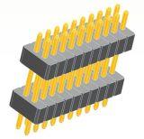 PCBコネクタピンのコネクター1.0ピッチの二重プラスチックPinヘッダ