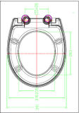 Moderner Entwurfs-flacher Harnstoff-Arbeitskarte-Toiletten-Sitz