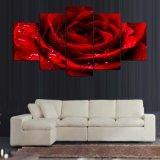 5개 피스 또는 세트는 빨간 사랑 로즈 포스터 색칠 벽 예술 룸 장식에 의하여 인쇄된 화포 색칠 Mc 160를 인쇄했다