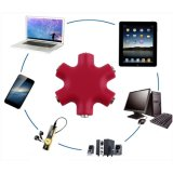 6 Port 3.5mm Audio Header Splitter Adapter para iPad iPhone fones de ouvido