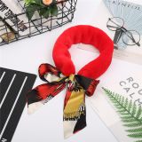 最も新しい様式の冬の絹のスカーフの本物の実質のRexのウサギの毛皮のスカーフ