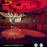 Le Parquet de l'aimant sans fil matériaux en verre LED RVB Portable DJ plancher de danse numérique couvrant la location de contrôleur