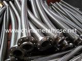 Manguito helicoidal inoxidable flexible Manguera Metalico flexible del metal de la trenza doble