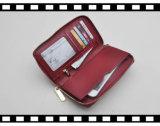 RFID преграждая функциональную мягкую кожаный повелительницу Запястье руки Бумажник с приложением застежки -молнии