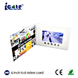 Новая 6 поздравительная открытка дюйма TFT LCD видео-, карточки LCD видео-, видео- брошюра