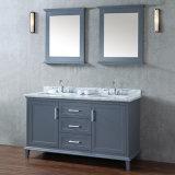 Amerikanische Art-hölzerner materieller stehender Fußboden-Badezimmer-Schrank