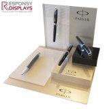Comptoir du Centre de Shopping personnalisé acrylique blanc Pen Display Frame