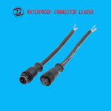 넓게 응용 LED 플러그 연결관은 2 Pin를 방수 처리한다