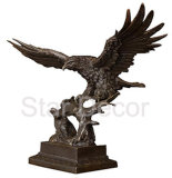Artesanato de metal Eagle estátuas de bronze e esculturas de cobre para os dons de negócios