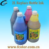 2 L de solvant bouteille d'encre CS100 avec puce pour l'imprimante Swj-320