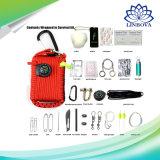 Amazon mayorista caliente Camping y senderismo Paracord 29 en 1 kit de emergencia Outdoor Gear Kit de supervivencia con brújula