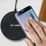 Mini Circular el Qi ABS cargador inalámbrico Teléfono móvil