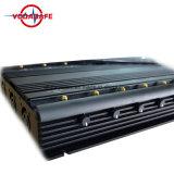 Escritorio de alta potencia Jammer Celular Blocker con sistema de refrigeración, bloqueador de la señal para todos los 2G, 3G, 4G de bandas de telefonía móvil, Lojack 173MHz, 433MHz, 315MHz GPS, Wi-Fi,VHF