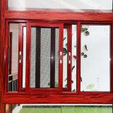 Alluminio lustrato doppio Windows scorrevole con la rete di zanzara