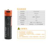 LEDライトのための再充電可能なリチウムイオンかポリマー電池: 電気ツール(14500 750mAh)