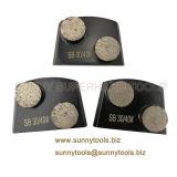 Los segmentos de Doble Disco de tallado de diamantes Lavina para esmeriladora de piso de concreto