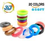 3Dからす口のフィラメントは-20の混合されたカラー20フィート1.75mmを各カラー補充する)