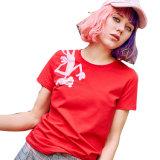 면 또는 폴리에스테에 의하여 인쇄되는 고품질 여자 t-셔츠