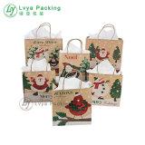De Navidad personalizadas de alta calidad de las bolsas de papel con asas