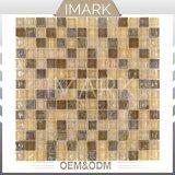 Mosaico quadrato di cristallo di Iridecent per le mattonelle della parete della stanza da bagno della piscina