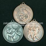 Medaglia antica personalizzata di sport del metallo