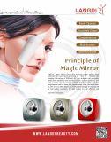 Analyse portative de peau du visage de test de face pour le traitement de laser