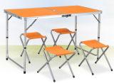 알루미늄 합금 휴대용 야영 픽크닉 테이블