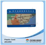 Cartões materiais plásticos do transporte do PVC do ISO 9001
