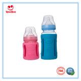Botellas de cristal del bebé con la cubierta protectora de silicona 120ml