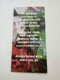 Livre Blanc de modèle de configuration avec l'étiquette du fabriquant d'impression de multicolores