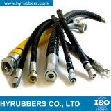 Tubo flessibile idraulico flessibile del tubo flessibile Braided con i montaggi