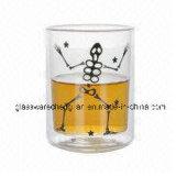Двойные стенки Coffee-Tea питьевой стекло наружного кольца подшипника (B-DBW039)