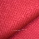 Weave текстурировал кожу PU, кожу мешка конструкции шотландки, декоративную кожу