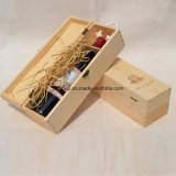De uitstekende Aangepaste Draagbare Houten Doos Van uitstekende kwaliteit van de Wijn Paulownia