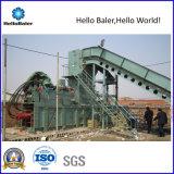 Papel usado hidráulico de Hellobaler que ata con correa la máquina (HAS4-7)