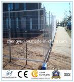 Emplazamiento de la obra usar la cerca temporal decorativa al aire libre, acoplamiento de alambre galvanizado