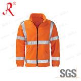 Chaqueta reflexiva de la seguridad del desgaste de la seguridad del paño grueso y suave polar (QF-518)