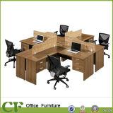 完全なMFC 4 Seaterのオフィスのベンチの現代オフィスワークステーション