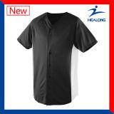 Camisa simple de Jersey del béisbol de las adolescencias de Sulimation del espacio en blanco de la ropa de Healong Dedign